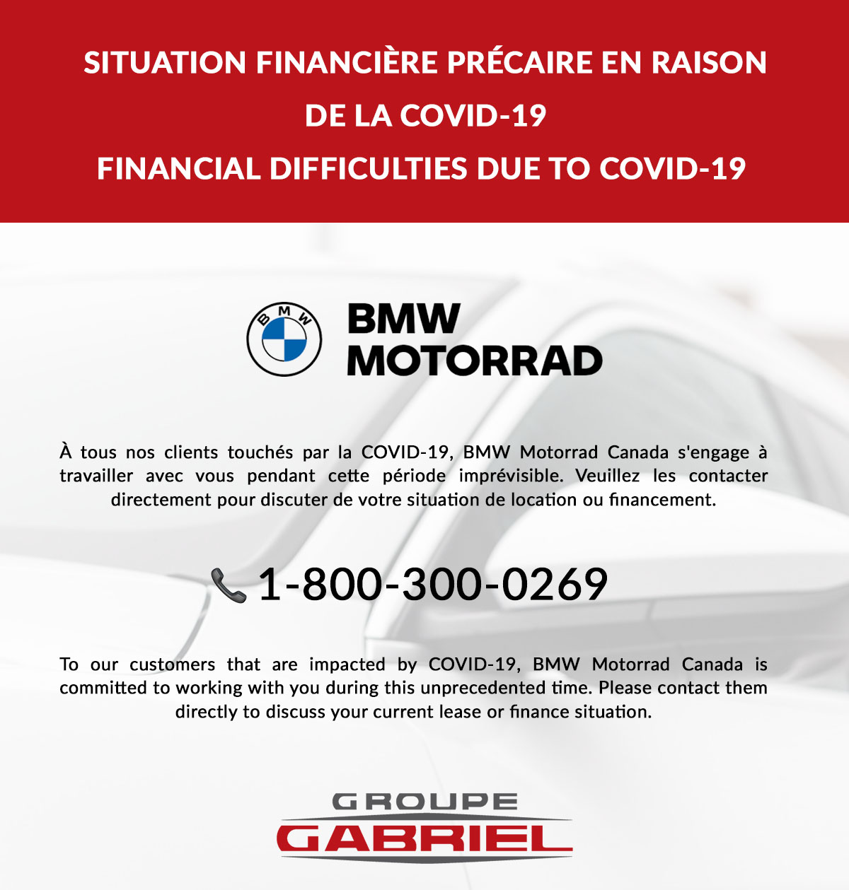 Financial difficulties due to Covid-19